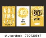 autumn sale background template.... | Shutterstock .eps vector #730420567