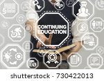 continuing education business... | Shutterstock . vector #730422013