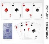 poker cards. vector... | Shutterstock .eps vector #73042252