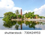 tran quoc pagoda the oldest... | Shutterstock . vector #730424953