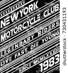 motor sport slogan typography... | Shutterstock .eps vector #730431193