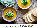 homemade healthy vegetable soup ...   Shutterstock . vector #730443163
