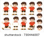 boys character set  in... | Shutterstock .eps vector #730446007