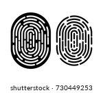 black and white fingerprint....