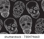seamless texture with a contour ... | Shutterstock .eps vector #730474663