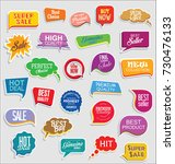 promo sale stickers and tags... | Shutterstock .eps vector #730476133