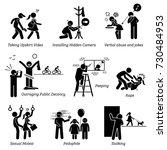 sex crime and criminal.... | Shutterstock .eps vector #730484953