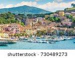 porto azzurro in elba island ... | Shutterstock . vector #730489273