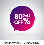 80  offer label sticker  sale... | Shutterstock .eps vector #730491307