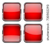 square red buttons. vector 3d... | Shutterstock .eps vector #730502293