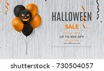 Halloween Sale Web Banner With...