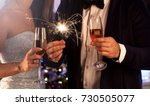 elegant young couple holding... | Shutterstock . vector #730505077