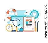 technical support  customer... | Shutterstock .eps vector #730509973