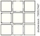 decorative frames | Shutterstock .eps vector #730517467