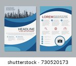 modern business two sided flyer ... | Shutterstock .eps vector #730520173