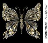beautiful  butterfly. vector... | Shutterstock .eps vector #730520767