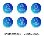 people icon set. flat line... | Shutterstock .eps vector #730523023