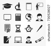 education icons  education...   Shutterstock .eps vector #730528027