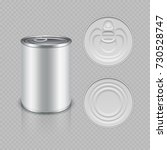 realistic canned metal... | Shutterstock .eps vector #730528747