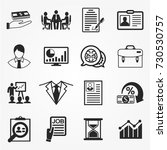 business icons  business icons... | Shutterstock .eps vector #730530757