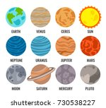 system planets. signed with the ... | Shutterstock .eps vector #730538227
