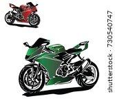 motorbike vector | Shutterstock .eps vector #730540747