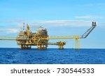 offshore platform of the in sea ... | Shutterstock . vector #730544533
