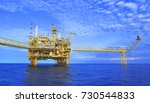 offshore platform of the in sea ... | Shutterstock . vector #730544833