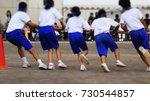 japanese junior high school gym ... | Shutterstock . vector #730544857