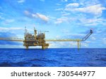 offshore platform of the in sea ... | Shutterstock . vector #730544977