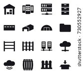16 vector icon set   warehouse  ... | Shutterstock .eps vector #730552927