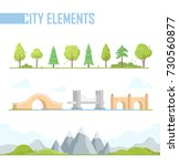 set of city elements   modern... | Shutterstock .eps vector #730560877