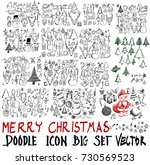 mega set of icon doodle... | Shutterstock .eps vector #730569523