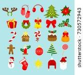 vector illustration christmas... | Shutterstock .eps vector #730572943