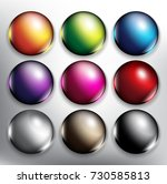 abstract vector web buttons set ...