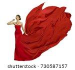 fashion model in fly dress... | Shutterstock . vector #730587157