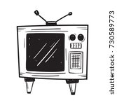 television doodle  | Shutterstock .eps vector #730589773