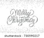 merry christmas card with hand...   Shutterstock .eps vector #730590217