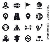 16 vector icon set   pointer ... | Shutterstock .eps vector #730593457