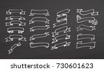big set of ribbons on... | Shutterstock .eps vector #730601623