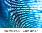 programming code on computer...   Shutterstock . vector #730610437