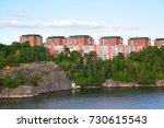 residental district on seashore ...   Shutterstock . vector #730615543
