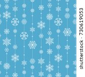 christmas seamless pattern from ... | Shutterstock .eps vector #730619053