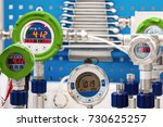 electronic manometers. modern... | Shutterstock . vector #730625257