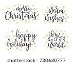 christmas greetings hand... | Shutterstock .eps vector #730630777