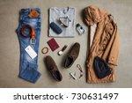 men's winter clothing style... | Shutterstock . vector #730631497