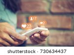 social media social network... | Shutterstock . vector #730634437