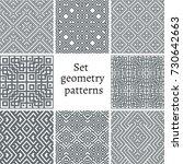 set of ornamental patterns for... | Shutterstock .eps vector #730642663