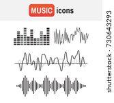 wave sound soundwave icon.... | Shutterstock .eps vector #730643293