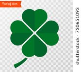 four leaf clover icon . vector... | Shutterstock .eps vector #730651093